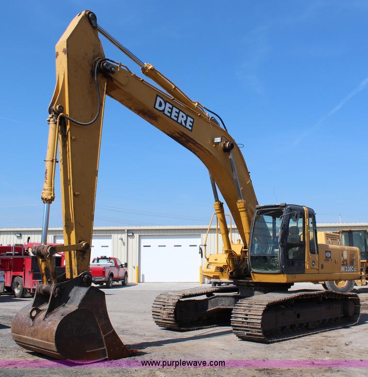 G5426.JPG - 2004 John Deere 330C LC excavator , 8,699 hours on meter , John Deere 6081H six cylinder turbo diese...