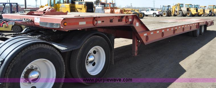 C3498.JPG - 1998 Load King tandem axle equipment trailer , 48 overall length folded , 8 x 96 quot top deck , 3 x...