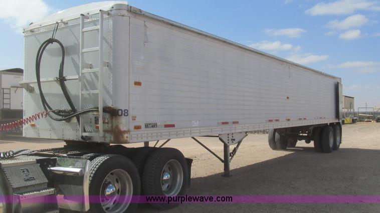 G5719.JPG - 1992 Timpte 45 live bottom trailer , 11 5H without extensions , 24 quot aluminum extensions , Shur L...