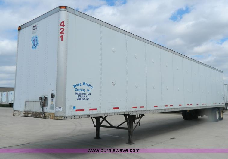 G7827.JPG - 2000 Wabash 53 dry van trailer , 102 quot W , Air suspension , 275/80R22 5 tires , GVWR 68,000 lbs ,...