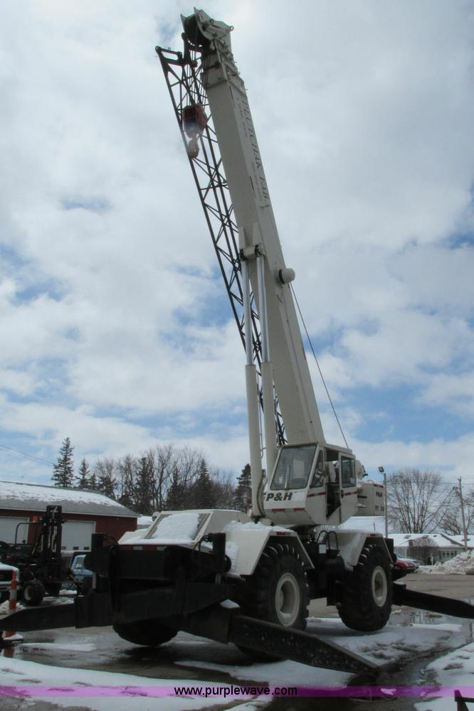 E5051.JPG - 1985 P amp H RT50 rough terrain crane , 2,837 hours on meter , Detroit Diesel 6V53N diesel engine , ...