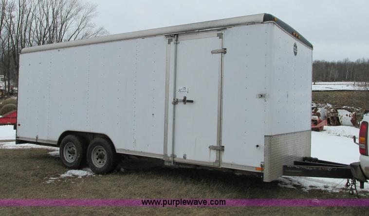E5065.JPG - 1998 Wells Cargo EW2024 enclosed trailer , 20L , 36 quot x 76 quot side entry door , Dual 44 quot re...