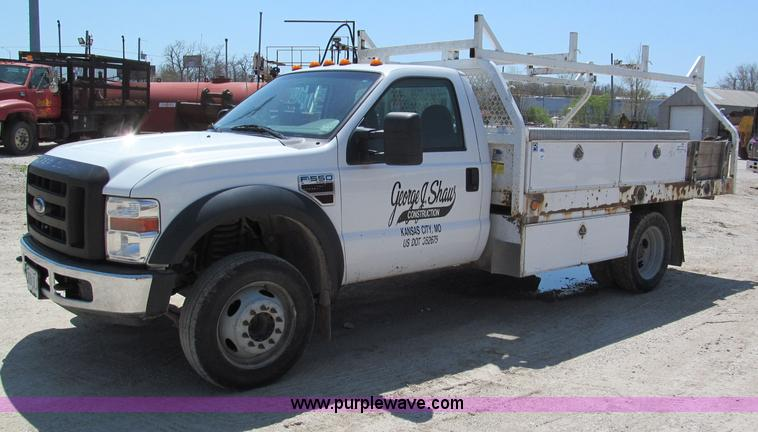 F5016.JPG - 2008 Ford F550 XL Super Duty service truck , 109,088 miles on odometer , 6 4L V8 diesel engine , Eng...