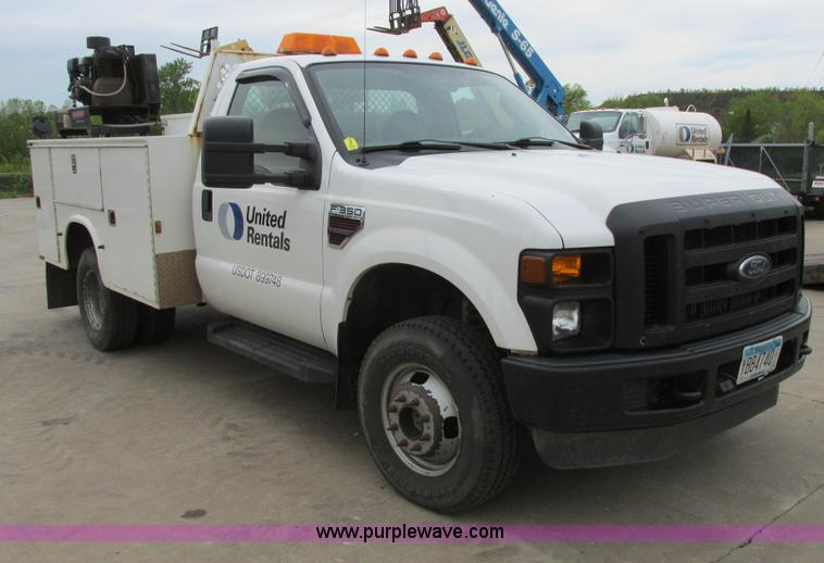 A8533.JPG - 2008 Ford F350 XL Super Duty service truck , 109,683 miles on odometer , 6 4L V8 OHV 32V turbo diese...