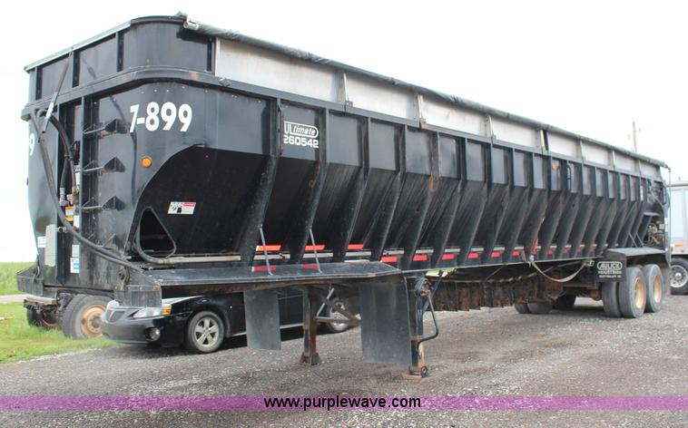 G5208.JPG - 2007 Aulick 42 belt trailer , Model 4266542 , 54 quot belt , 16 quot aluminum extensions , Sliding r...