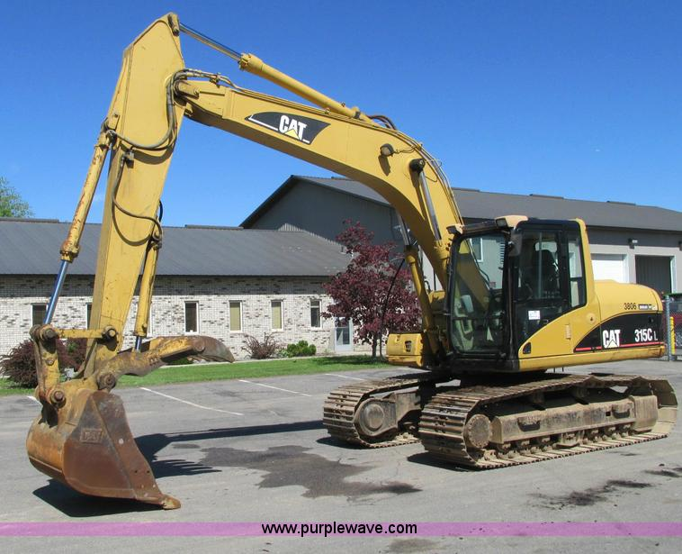 E5139.JPG - 2001 Caterpillar 315C excavator , 3,895 hours on meter , Caterpillar diesel engine , 109 HP , Serial...