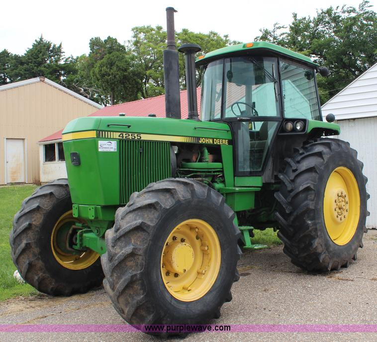 G5146.JPG - 1990 John Deere 4255 MFWD tractor , 4,432 hours on meter , Actual hours unknown , John Deere 7 6L si...