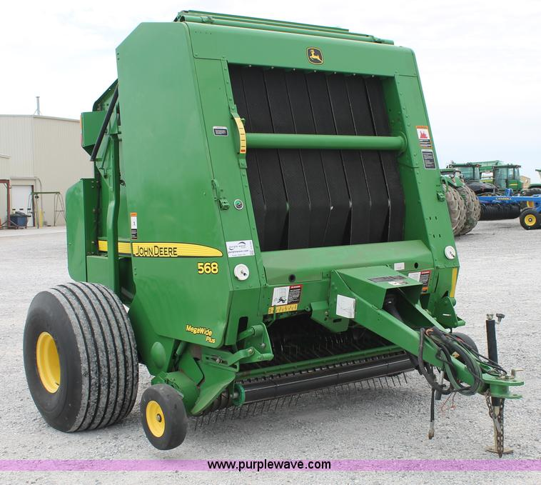 G5744.JPG - 2008 John Deere 568 round baler , Mega Wide pickup , Twine tie and surface wrap , 1000 PTO , 5 bale ...