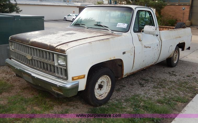 1982 Chevrolet C10 Custom Deluxe Pickup Truck No Reserve Auction On Tuesday July 09 2013