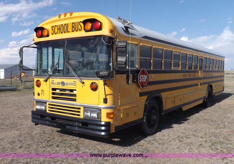1995 Blue Bird School Bus No Reserve Auction On Tuesday July 09 2013