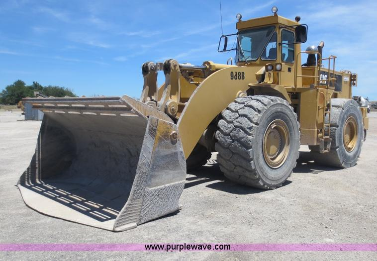 D5972.JPG - 1992 Caterpillar 988B wheel loader , 23,927 hours on meter , Caterpillar 3408 eight cylinder diesel ...