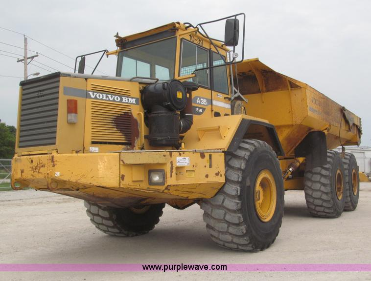 F7006.JPG - 1995 Volvo BM A35 articulated haul truck , 11,355 hours on meter , 28,499 KM on odometer , Volvo TD1...