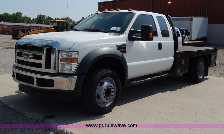 H3034.JPG - 2008 Ford F450 XLT Super Duty flatbed truck , 196,465 miles on odometer , 6 4L V8 OHV 32V turbo dies...