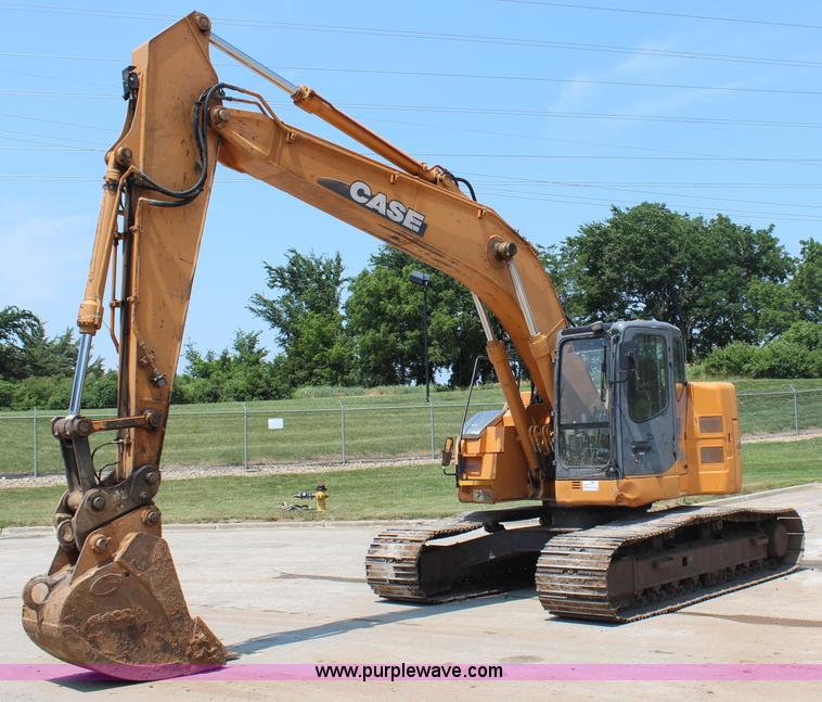 H6729.JPG - 2003 Case CX225SR excavator , 6,118 hours on meter , Isuzu six cylinder turbo diesel engine , 141 HP...