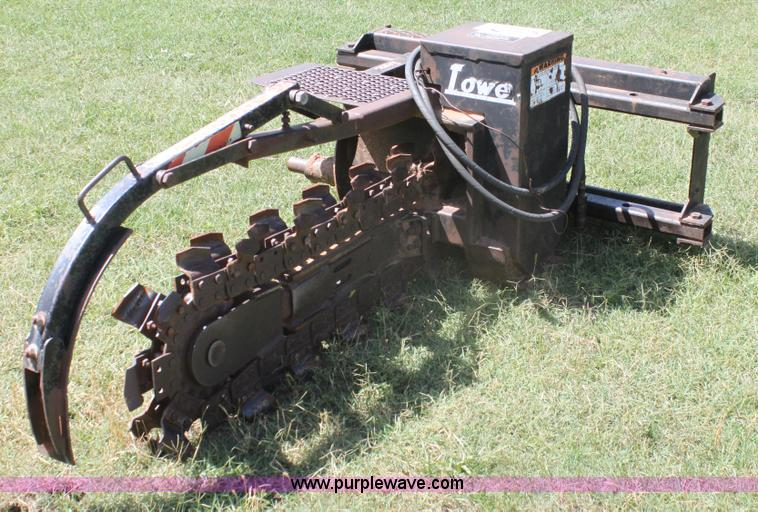 H7427.JPG - Lowe skid steer trencher attachment , 5 quot W , 4 digging depth ...