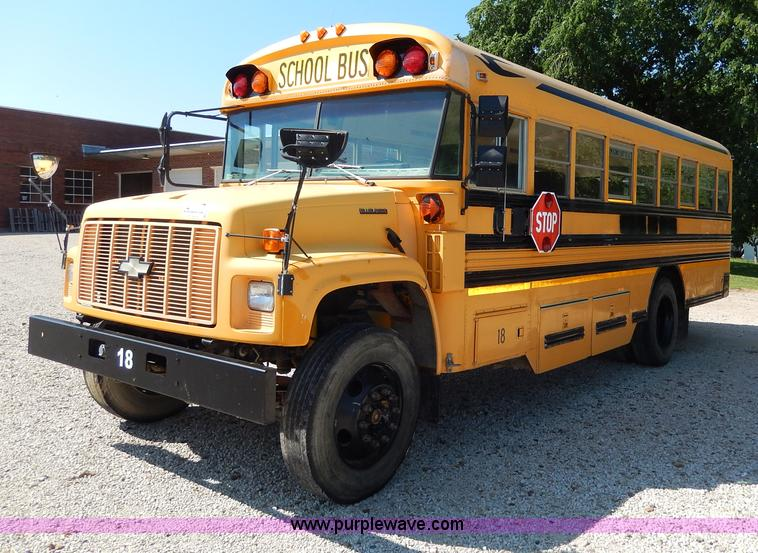 1999 Chevrolet Bluebird School Bus No Reserve Auction On