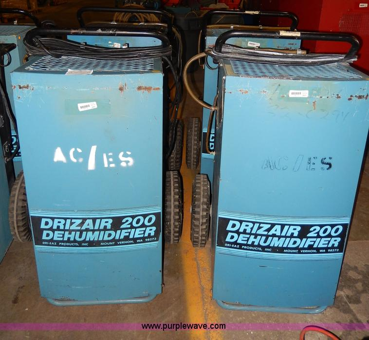 No Reserve Auction On Tuesday May 07: (5) Drieaz DrizAir 200 Dehumidifiers
