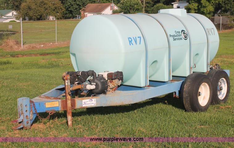 Poly Tank Trailer : Gallon liquid nurse trailer no reserve auction on