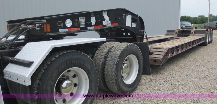 F6647.JPG - 2004 Fontaine 50 ton lowboy trailer , Model RAM50A , 22 flat floor , 102 quot W expandable with wing...