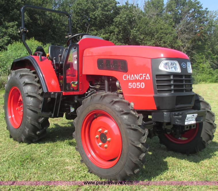 E7340.JPG - 2012 Changfa 5050 MFWD tractor , 1 5 actual hours , Four cylinder direct injection diesel engine , M...