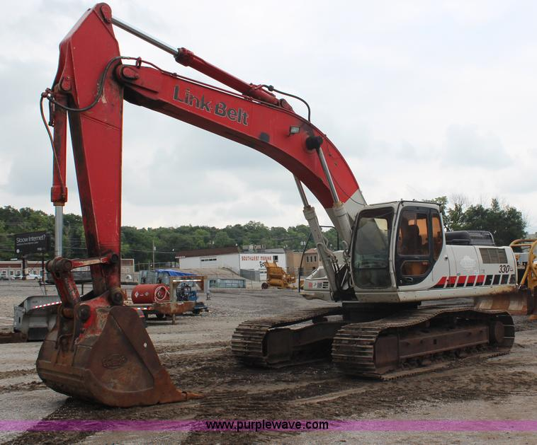 H6727.JPG - 2004 Link Belt 330 LX excavator , 14,411 hours on meter , Isuzu six cylinder diesel engine , 248 HP ...