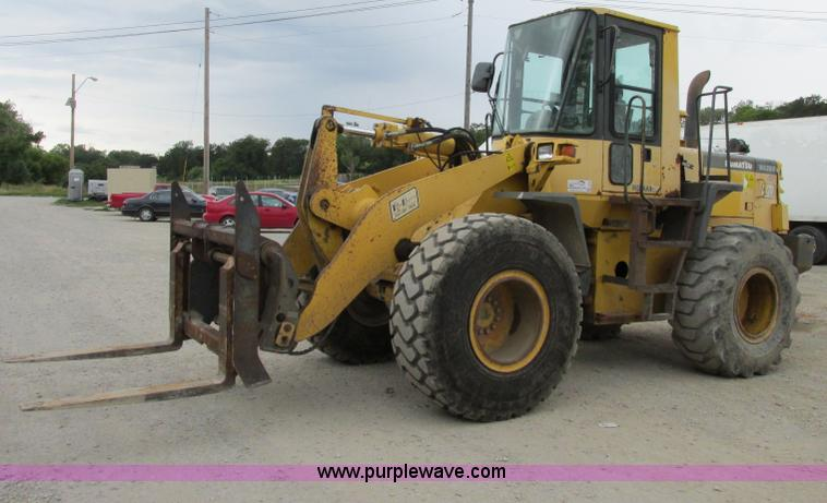 F5199.JPG - 1996 Komatsu WA250 3L wheel loader , 13,153 hours on meter , Cummins six cylinder turbo diesel engin...