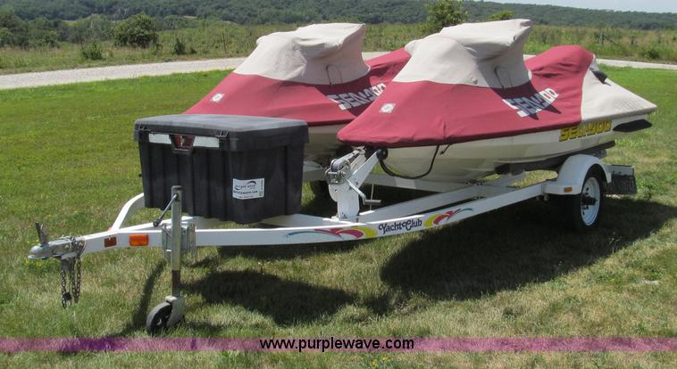 G2056.JPG -  2 1999 Bombardier GTI 5885 Sea Doo personal watercrafts , Rotax 718cc two cylinder gas engines , 85...