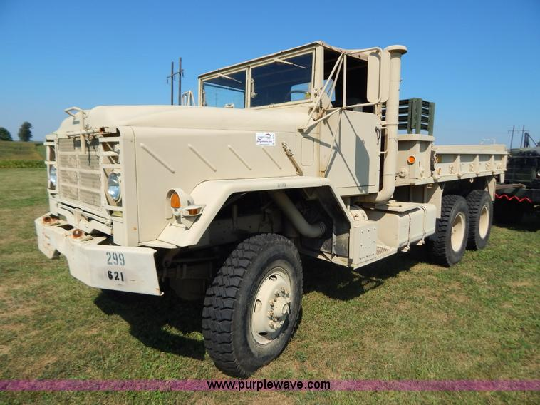 B5820.JPG - 1983 Am General M923 military truck , 2,249 miles on odometer , 221 hours on meter , Cummins NHC250 ...