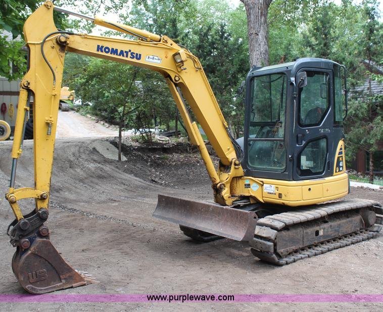 H6607.JPG - 2007 Komatsu PC40MR 2 mini excavator , 1,534 hours on meter , Hours may vary, still in use , Four cy...