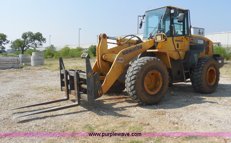 E7638.JPG - 2006 Komatsu WA320 5L wheel loader , 5,115 hours on meter , 9,668 miles on odometer , Hours and mile...
