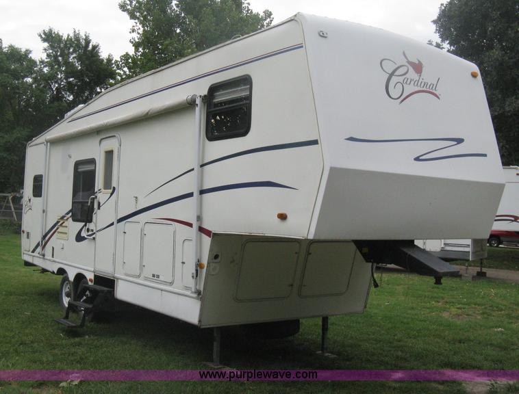 H6375.JPG - 1998 Cardinal LX fifth wheel camper , 28L , 12 slid out , Four person sleeping capacity , Central AC...