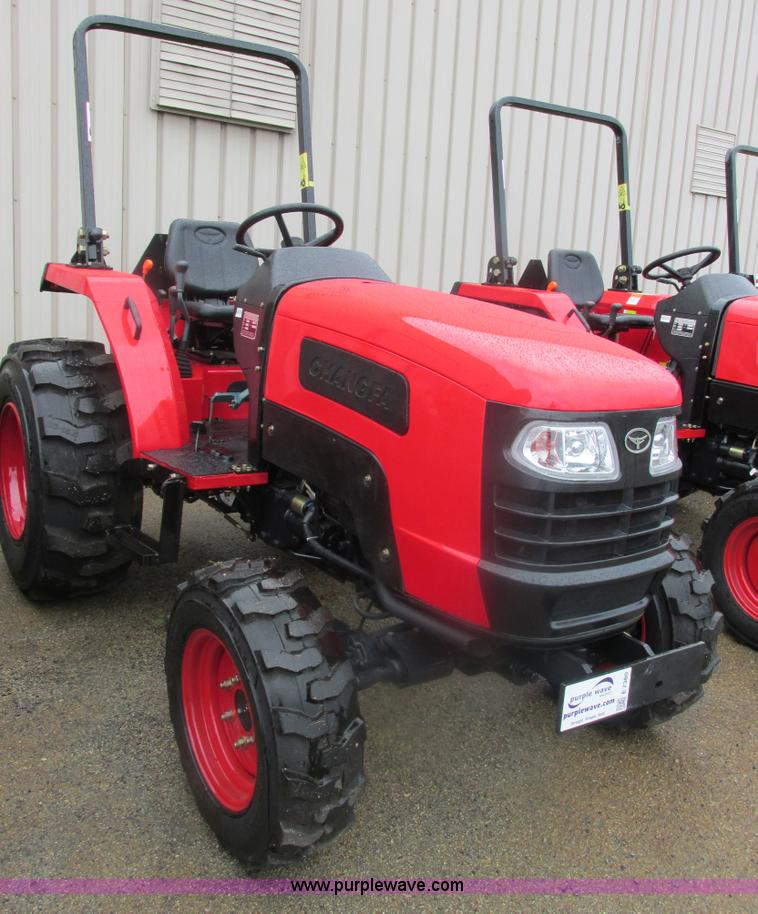 E7380.JPG - 2012 Changfa 4032 MFWD tractor , 2 2 actual hours , Three cylinder direct injection diesel engine , ...