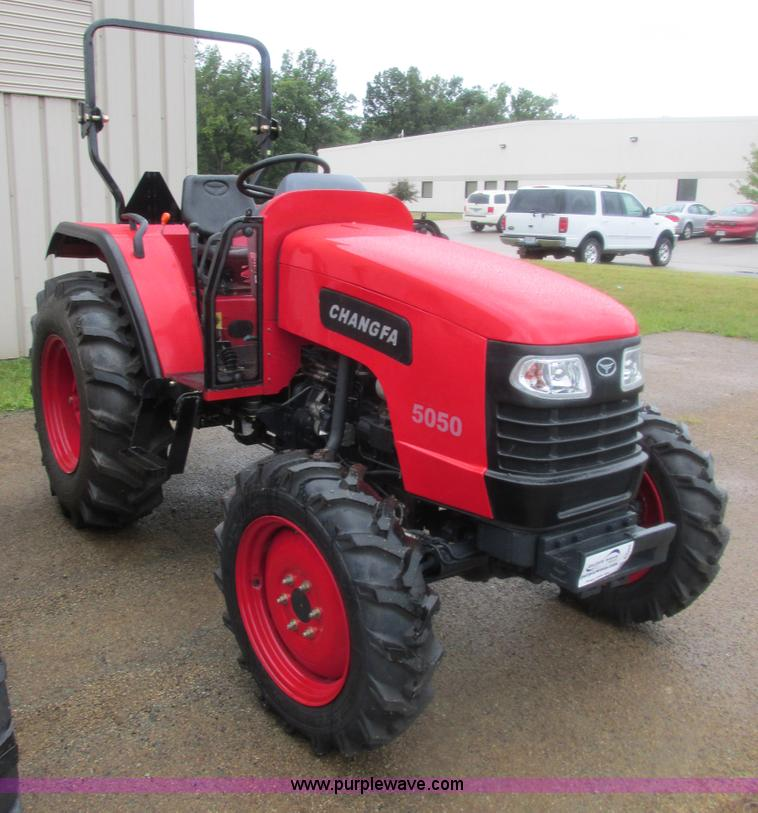 E7384.JPG - 2012 Changfa 5050 MFWD tractor , 3 6 actual hours , Four cylinder direct injection diesel engine , M...