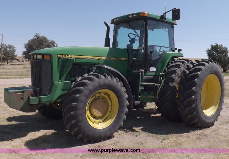 I7587.JPG - 1996 John Deere 8400 MFWD tractor , 9,437 hours on meter , John Deere six cylinder diesel engine , M...