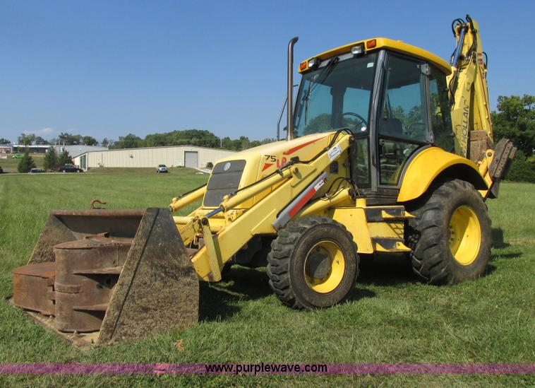 E7365.JPG - 2001 New Holland LB75 backhoe , 4,859 hours on meter , Hours may vary, still in use , New Holland fo...