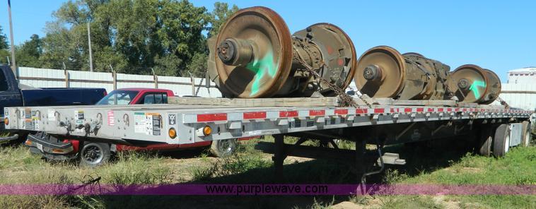 AD9962.JPG - 2006 Wilson CF900 Road Brute aluminum flatbed trailer , 48 quot L x 102 quot W , Aluminum deck , Hol...