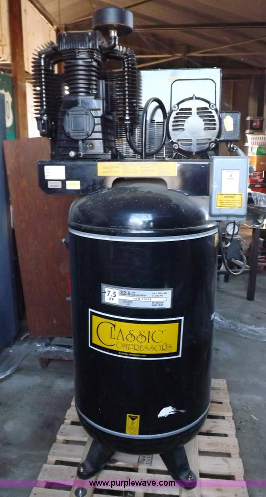 Classic C7180230 Vertical Air Compressor No Reserve Auction On Thursday October 24 2013