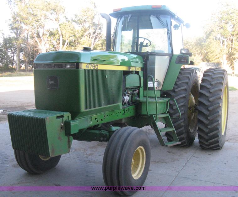 H6283.JPG - 1992 John Deere 4760 tractor , 895 hours on replaced hour meter , Previous meter 7,404 hours , John ...