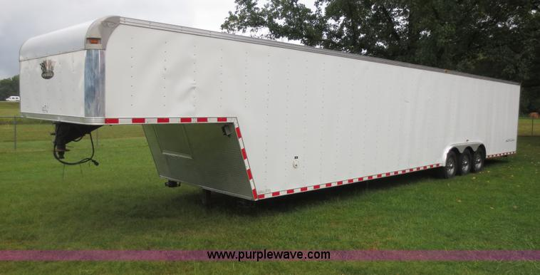 F6658.JPG - 2008 Vintage 0L844GN enclosed car hauler trailer , 44L x 8 5W , Proto toolbox , Rear loading ramp wi...