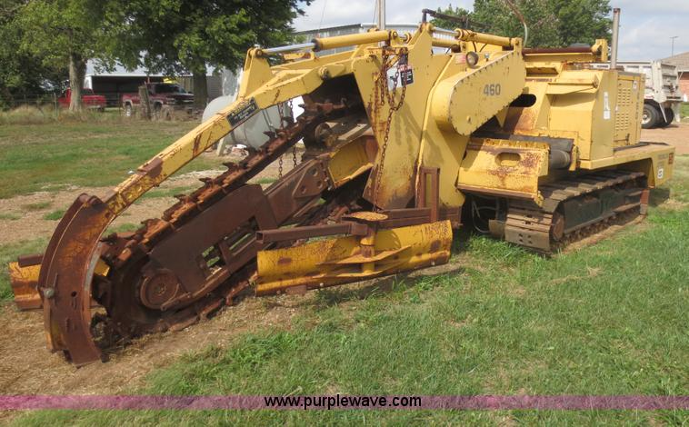 F6686.JPG - 1990 Trencor Jetco 460 chain trencher , 3,160 hours on meter , Cummins 3 9L turbo diesel engine , 6 ...
