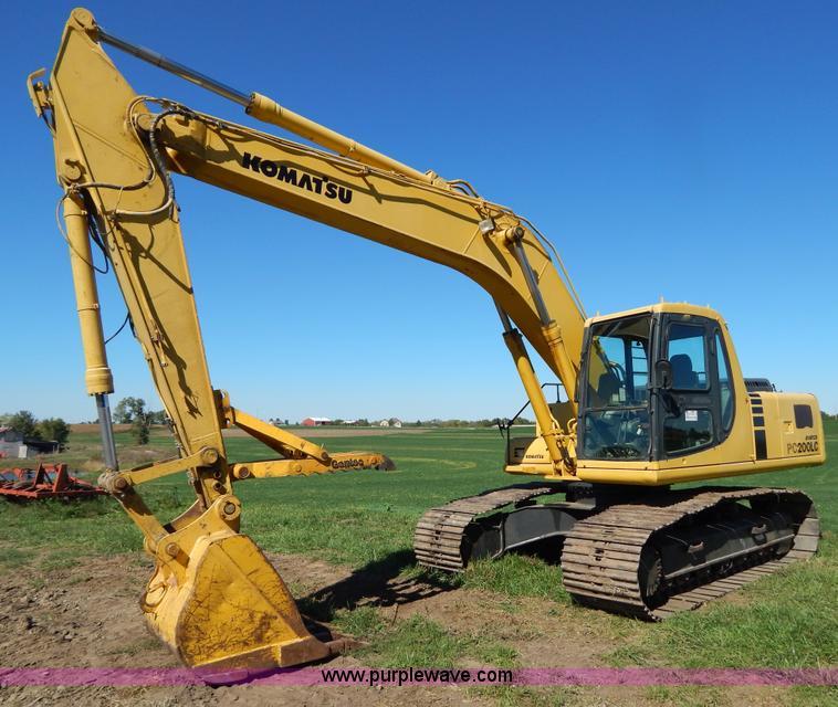 H4000.JPG - 1998 Komatsu PC200LC 6 excavator , 6,196 hours on meter , Komatsu six cylinder turbo diesel engine ,...