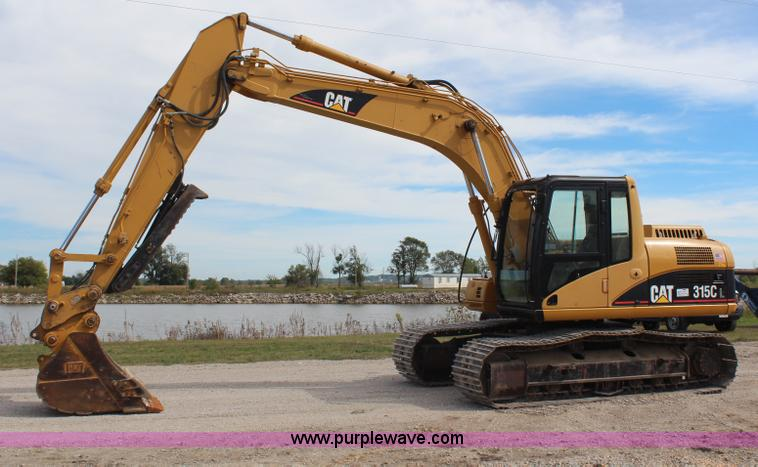 H6754.JPG - 2006 Caterpillar 315C L excavator , 2,968 hours on meter , Caterpillar six cylinder turbo diesel eng...