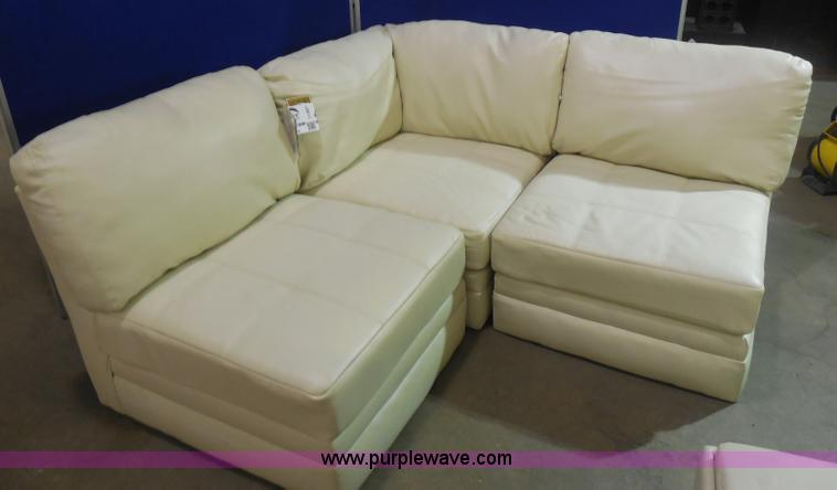 Ashley Furniture White Leather Sectional No Reserve
