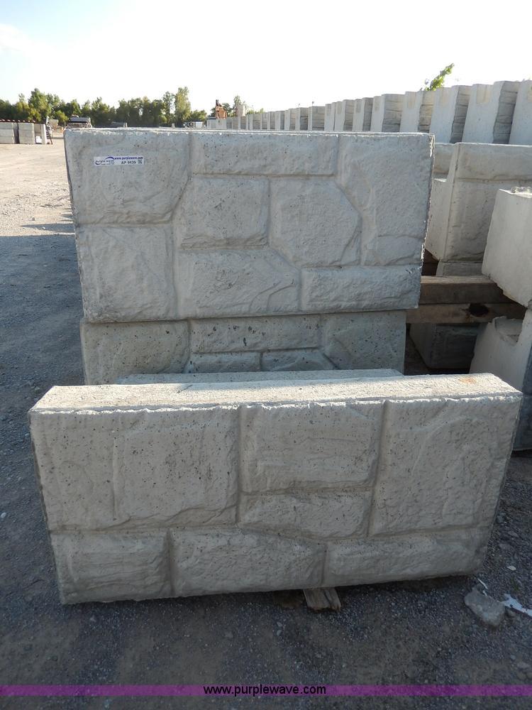 Decorative Stone Blocks : Decorative concrete field stone top blocks no