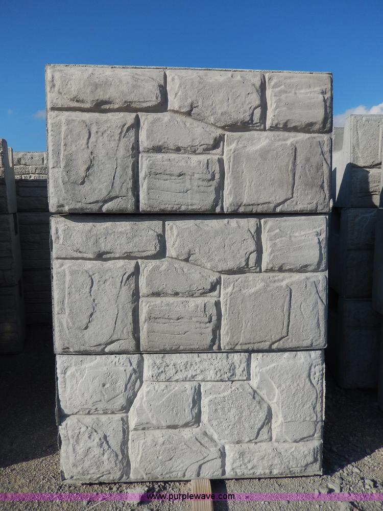 Stone Face Concrete Blocks : Decorative concrete field stone middle blocks no