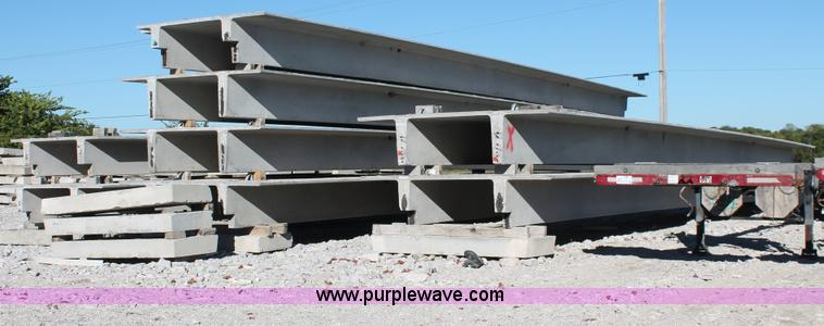 AR9989.JPG -  1 Precast structural concrete double tee , 5110 quot L x 911 3/4 quot W , Approx 2H , Weight 557 lb...