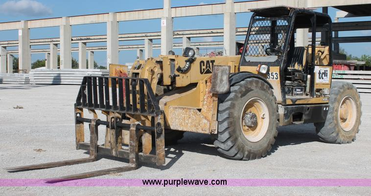 I4737.JPG - 1999 Caterpillar TH83 telehandler , 9,633 hours on meter , Hours may vary, unit is still in use , Ca...