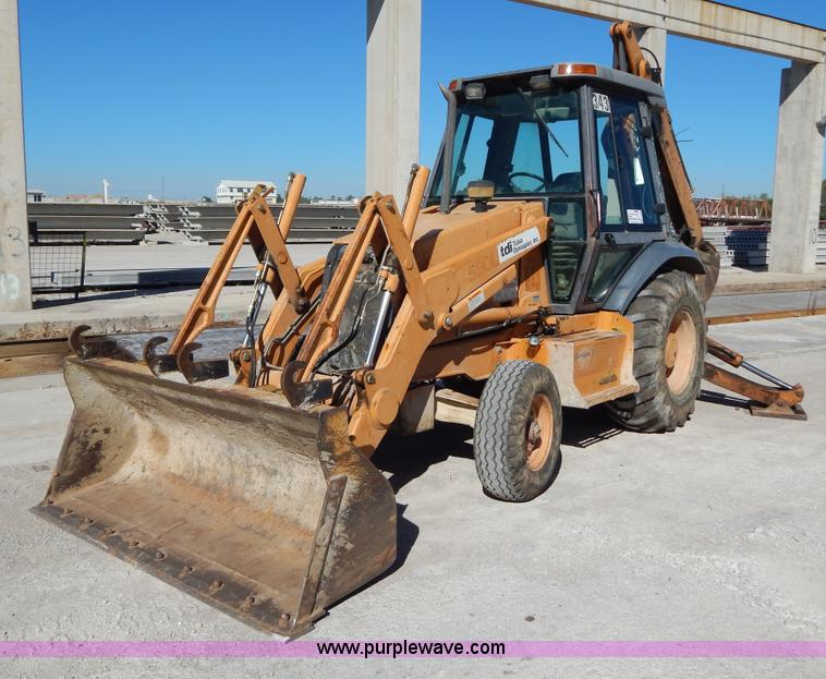 I4742.JPG - 2000 Case 580L backhoe , 7,614 hours on meter , Four cylinder diesel engine , Serial 46006292 , Four...