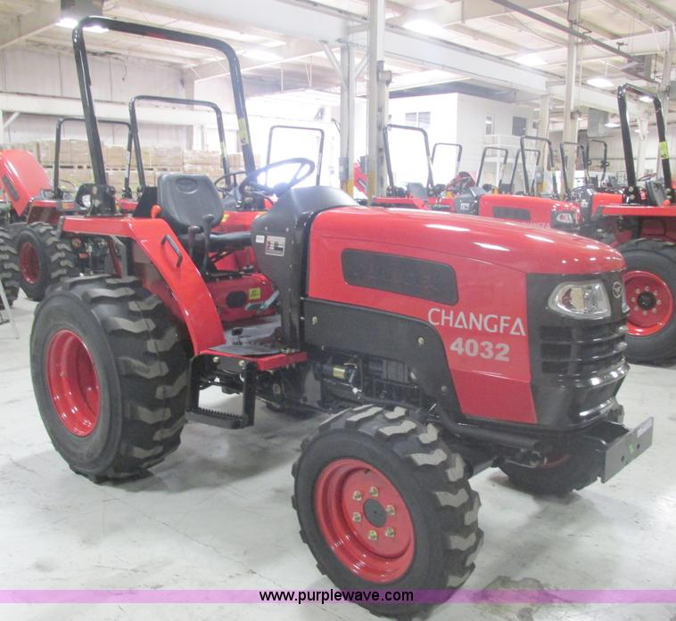 AB9356.JPG - 2012 Changfa 4032 MFWD tractor , 1 6 actual hours , Three cylinder direct injection diesel engine , ...