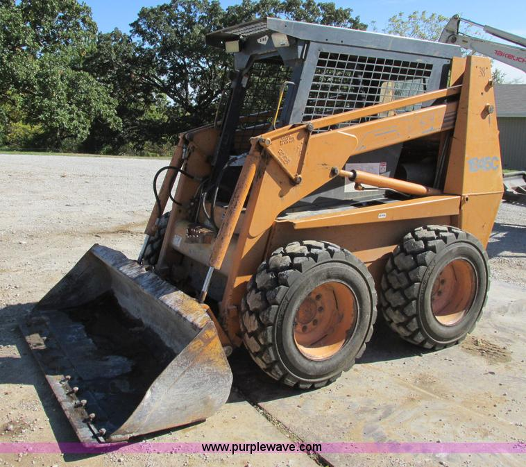 F5355.JPG - Case 1845C skid steer , 6,167 hours on meter , Hand controls , After market cab enclosure , Heat , 7...